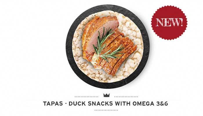 Dogs duck snacks Tapas Mediterranean Natural