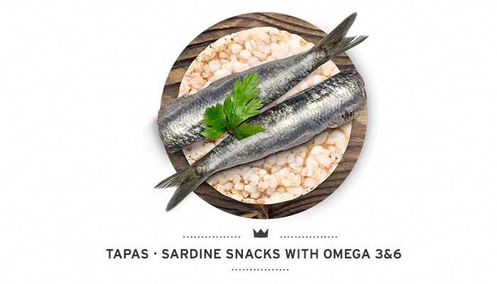 Dogs sardine snacks Tapas Mediterranean Natural