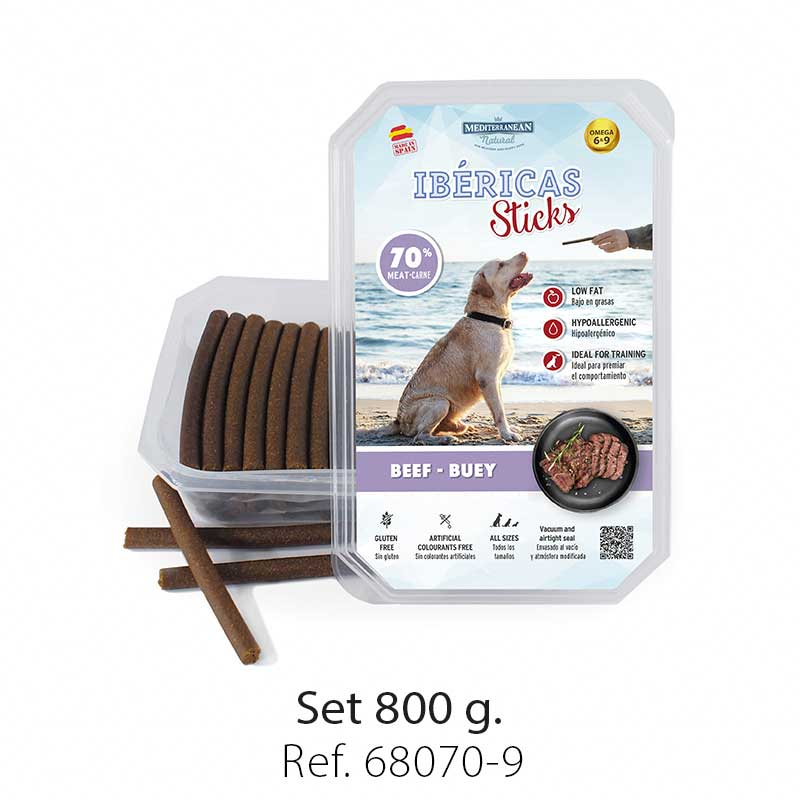 Ibericas Sticks for dogs beef Mediterranean Natural
