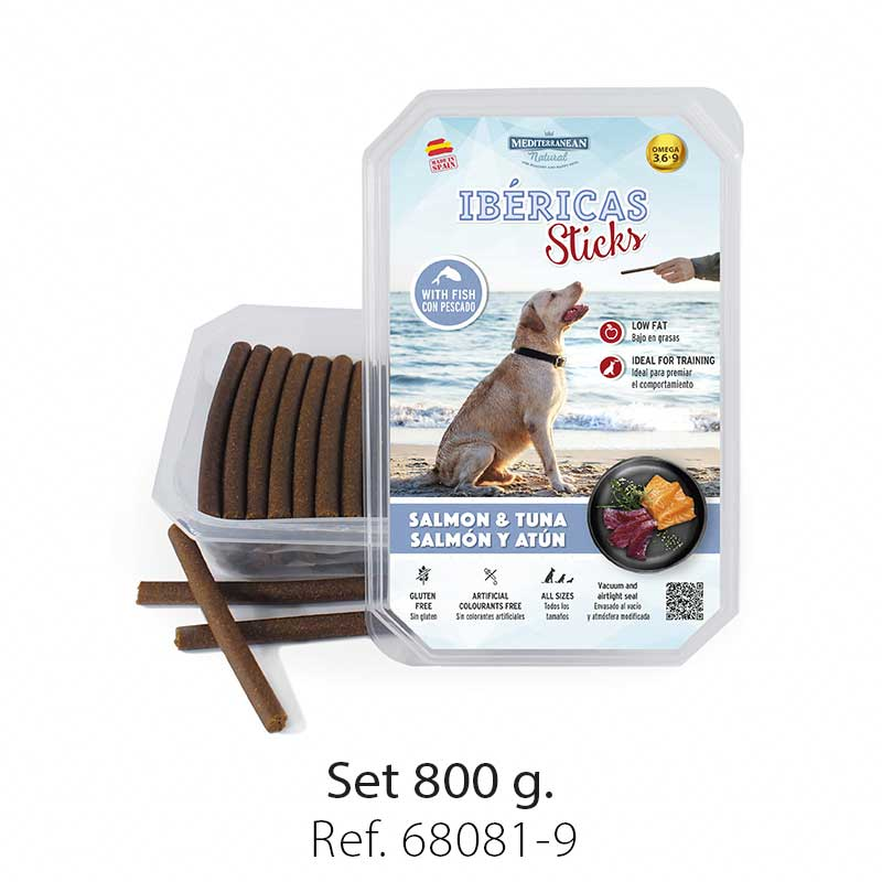 Ibericas Sticks for dogs salmon and tuna Mediterranean Natural