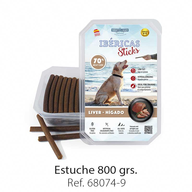 Ibéricas Sticks para perros de hígado Mediterranean Natural