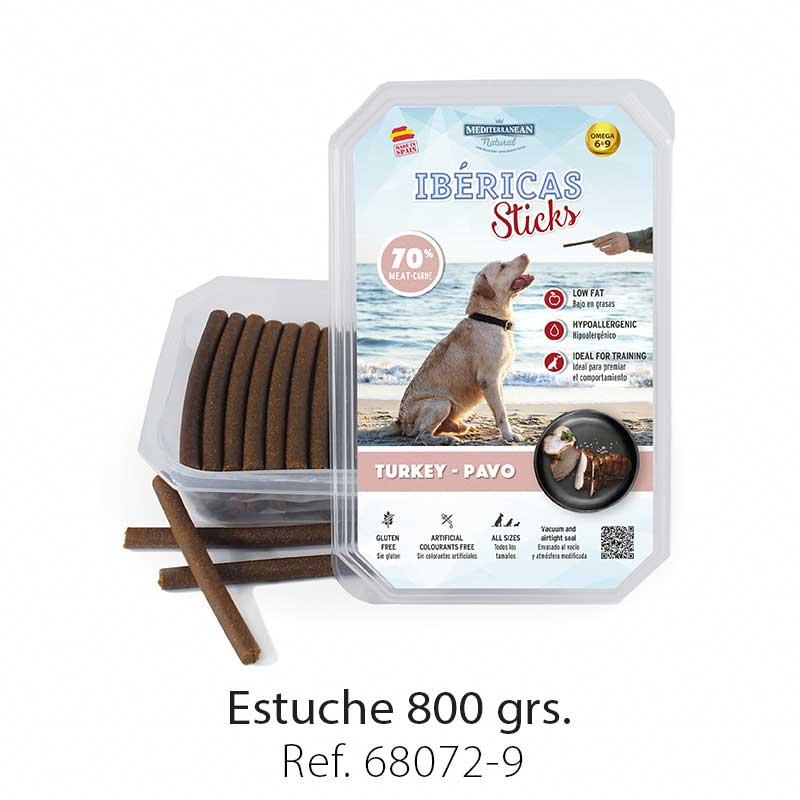 Ibéricas Sticks para perros de pavo Mediterranean Natural