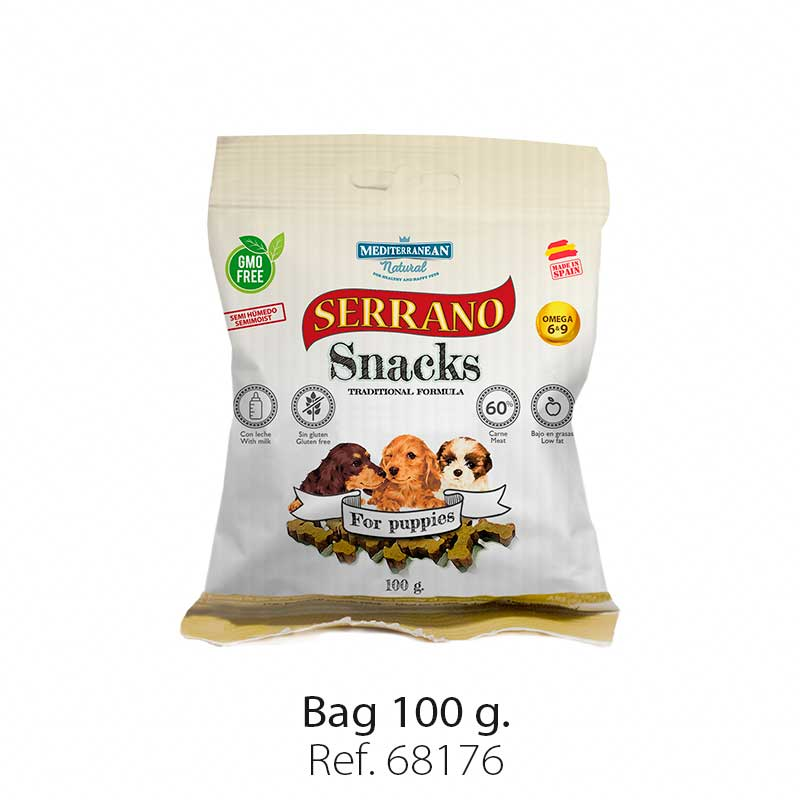 Serrano Snacks for puppies, Mediterranean Natural