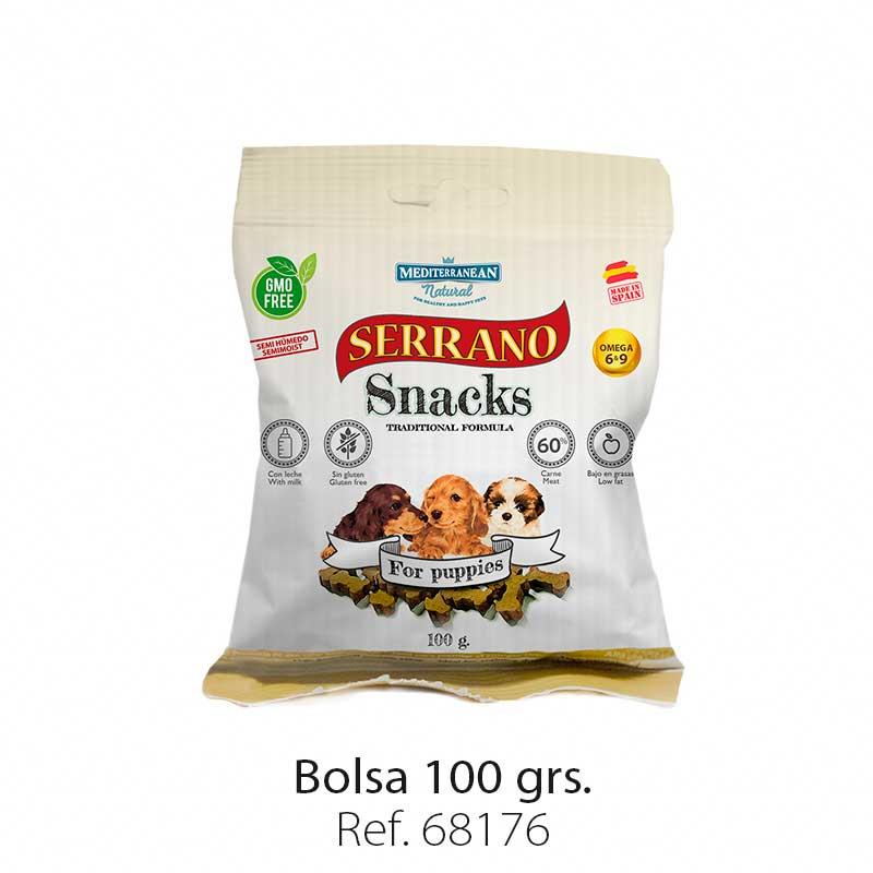 Serrano Snacks para cachorros, Mediterranean Natural