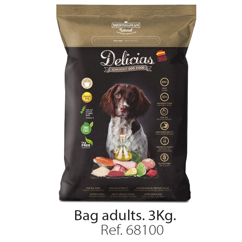 Delicias dog food Mediterranean Natural big bag