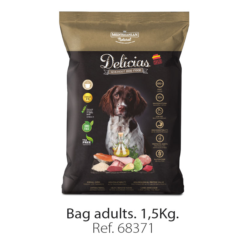 Delicias dog food Mediterranean Natural small bag