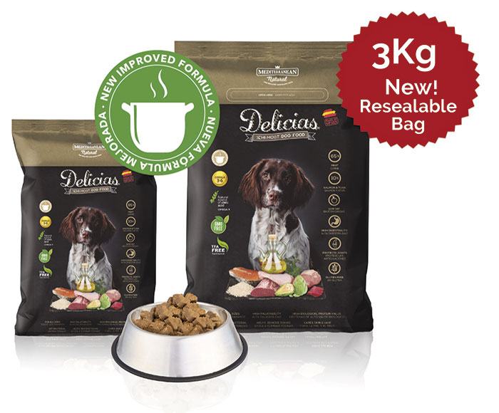 New Delicias for adult dogs Mediterranean Natural