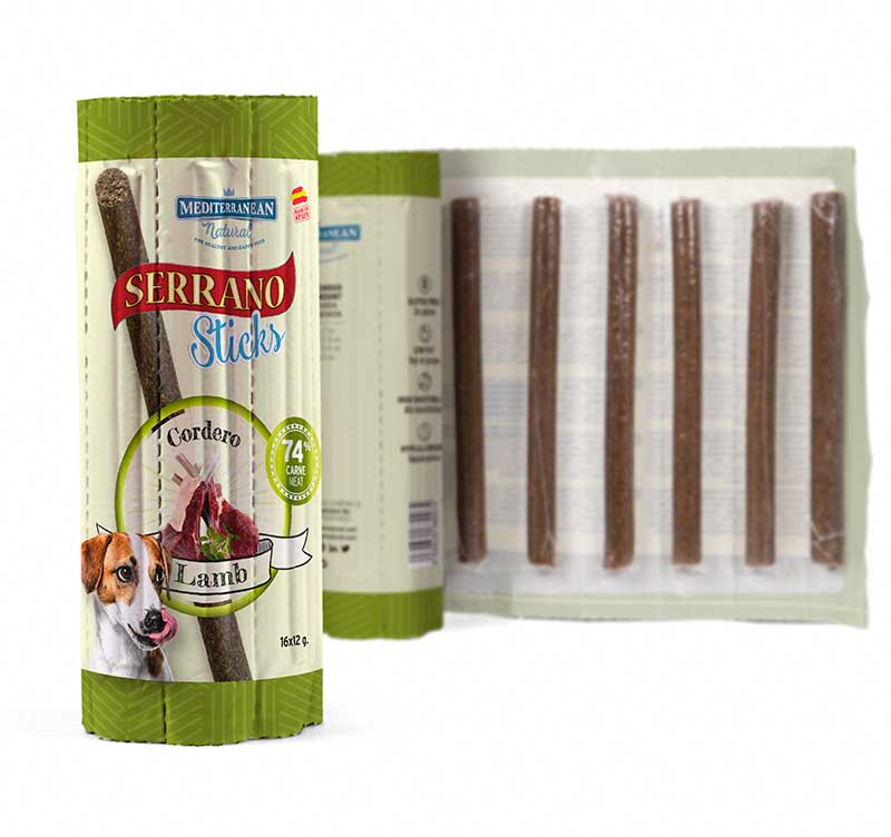 Barritas individuales Serrano Sticks para perros de carne cordero