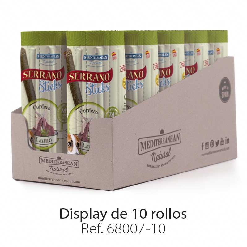 Display Serrano Sticks barritas para perros carne cordero