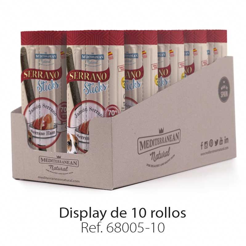 Display Serrano Sticks barritas para perros jamón serrano