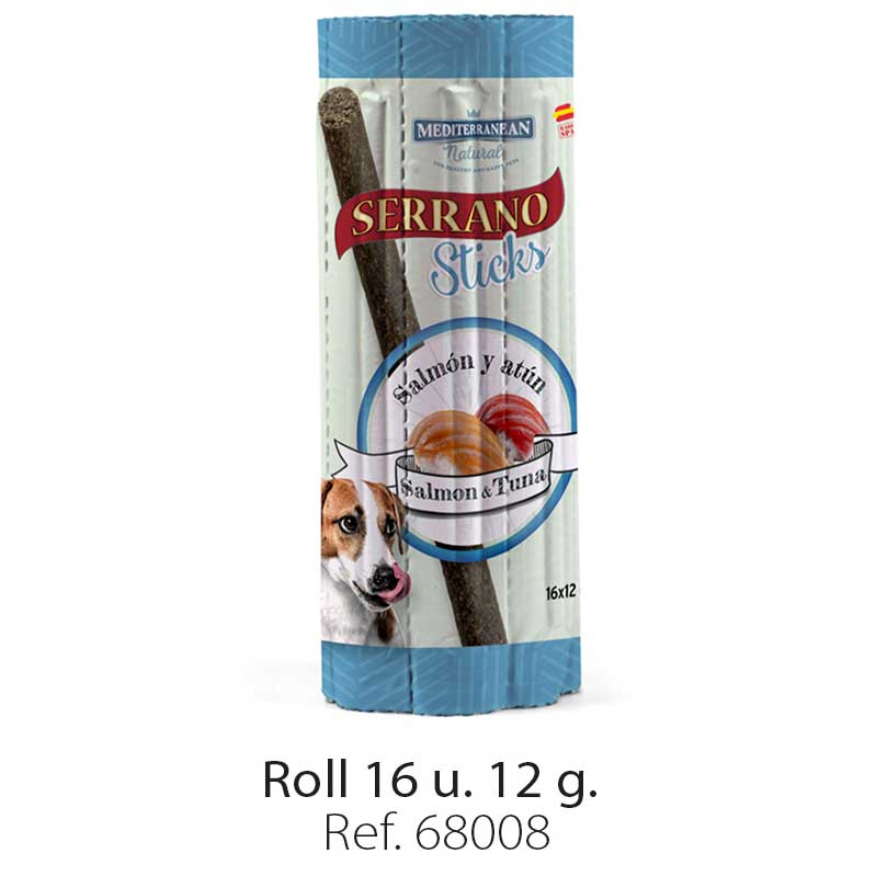 Serrano Sticks roll for dogs fish salmon and tuna