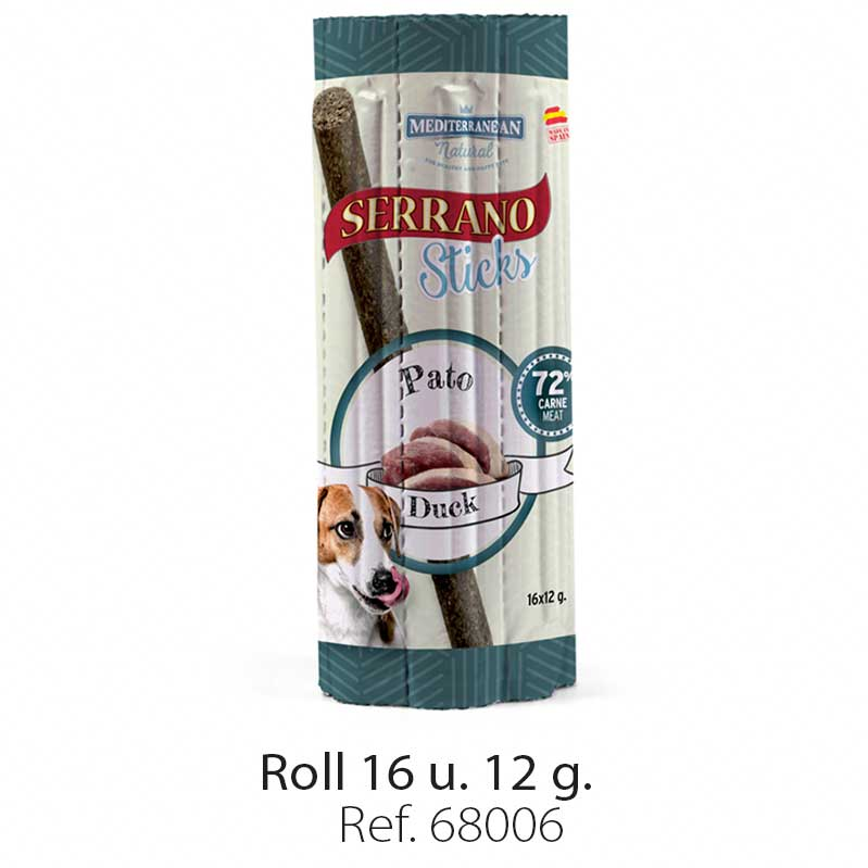 Serrano Sticks roll for dogs meat duck