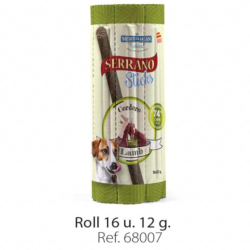 Serrano Sticks roll for dogs meat lamb